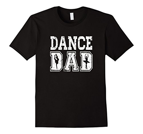 Men's Distressed Dance Dad Ballet T-Shirt Great Gift for Men 2XL Black