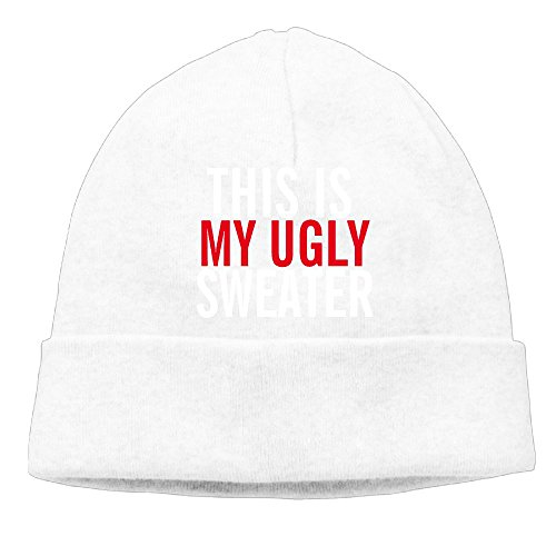 Richard Lyons Momen's This Is My Ugly Casual Style Hip-Hop White Beanies Caps Hats