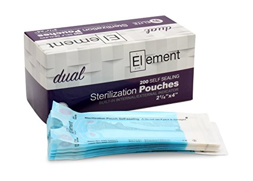 (ELEMENT - Self Seal - Dual Indicator Sterilization Pouches - 2.25 x 4 - Pack of 200)