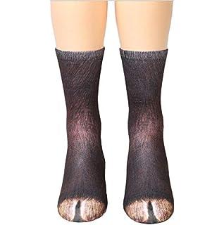 FORLADY Impresión 3D pie de animal calcetines en forma de garra adultos simulación digital calcetines unisex