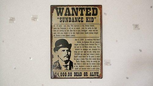 Déco Américaine 'Serigrafia Wanted Sundance Kid – Marronee
