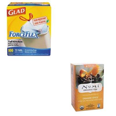 KITCOX70427NUM10240 - Value Kit - Numi Organic Tea Organic Teas and Teasans (NUM10240) and Glad ForceFlex Tall-Kitchen Drawstring Bags (COX70427) by Numi Organic Tea