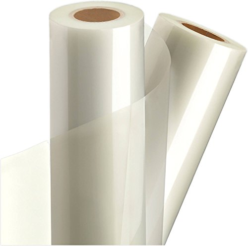 Adhesive Backed Laser Film - Clear Vinyl Self-Adhesive Laminate 12