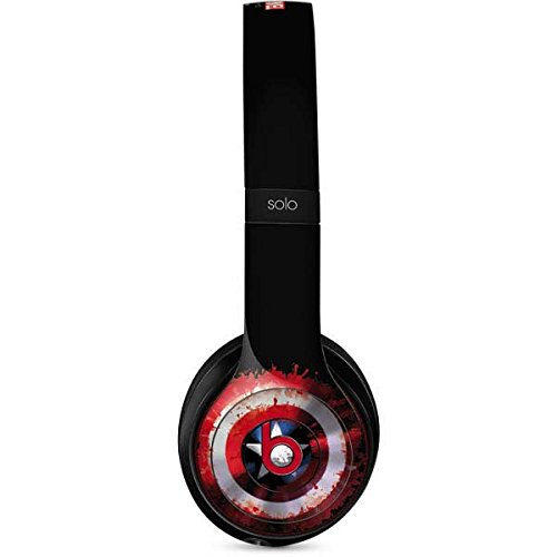 Skinit Captain America Shield Beats Solo 3 Wireless Skin - Officially Licensed Marvel/Disney Audio Decal - Ultra Thin, Lightweight Vinyl Decal Protection