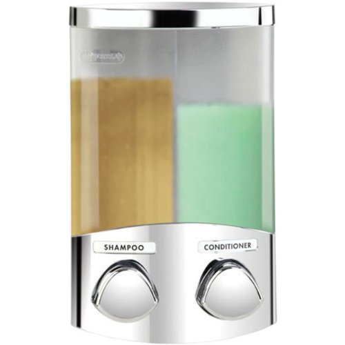 Better Living Products 76244-1 Euro Duo 2 Shower Liquid Dispenser with Translucent Containers, Chrome