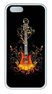 3D Guitar TPU White luxury iphone 5 case for Apple iPhone 5/5S