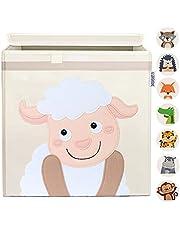 GLÜCKSWOLKE Opbergdoos Kinderen - 15 Motieven I Speelgoedkist met deksel voor Kinderkamers I Organizer Boxes I Box (33x33x33) voor Kallax Plank I Kindermand Container