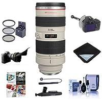 Canon EF 70-200mm f/2.8L USM AF Lens Kit, USA - Bundle With 77mm Filter Kit, FocusShifter DSLR Follow Focus & Rack Focus, Flex Lens Shade, Lens Cap Leash, Cleaning Kit, Lens Wrap, Software Package