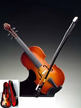 7'' Violin w/Case Miniature Instrument