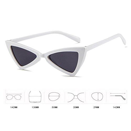 Hzjundasi Cat Glasses proof Blanc Non MOD Retro Glare Eye Glasses intensity Series Triangle Sun Style Personality wrOrzREqS
