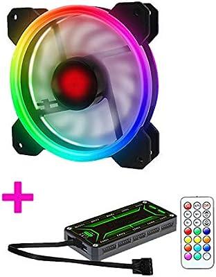 ZXLLAFT Ventilador RGB LED de Carcasa de 120 mm, versión ...