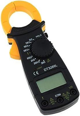 LCD  Current Measure AC//DC Multimeter Resistance Tester DT3266L Clamp Meter