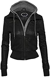 Juniors Faux Leather Jackets and Coats | Amazon.com