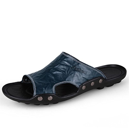 Zapatillas De Hombres Los LYJBIK Sandalias Cómodo Ocasionales Suave Verano Ligero Blue Del Casuales nwwax8