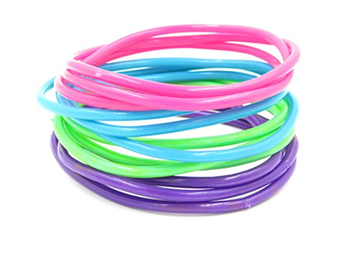 24 Piece Pastel Colored Jelly Bracelet Set for $<!--$12.99-->