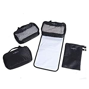 Obersee 4 Piece Diaper Bag Conversion Kit, Black