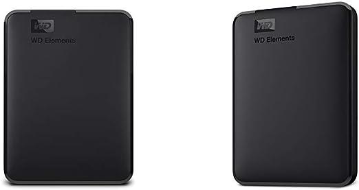 【セット買い】WD HDD ポータブルハードディスク 3TB WD Elements Portable WDBU6Y0030BBK-WESN USB3.0/2年保証 & HDD ポータブルハードディスク 1TB WD Elements Portable WDBUZG0010BBK-WESN USB3.0/2年保証