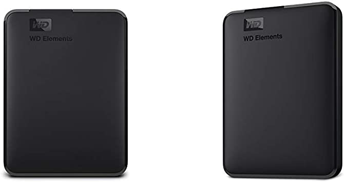 【セット買い】WD HDD ポータブルハードディスク 4TB WD Elements Portable WDBU6Y0040BBK-WESN USB3.0/2年保証 & HDD ポータブルハードディスク 1TB WD Elements Portable WDBUZG0010BBK-WESN USB3.0/2年保証