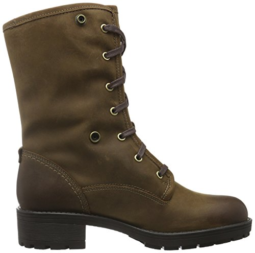 Leather Clarks Botas GTX Mujer Marrón Brown Reunite Biker Up para rqAFrwz4
