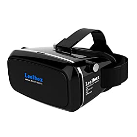 Leelbox 3D VR Glasses Google Cardboard 360 degree Viewing Immersive Virtual Reality 3D Video Games Glasses VR Headset Compatible with Smartphone 3.5-6.0 inch with Retail Package