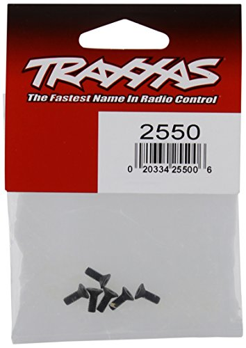 Traxxas 2550 Countersunk Machine Hex Screws, 3x8mm (set of 6) - Traxxas Countersunk Screws