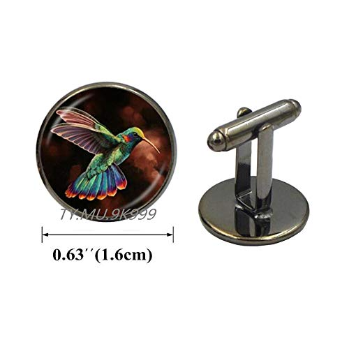 Yao0dianxku Hummingbird Cufflinks-Hummingbird Cuff Links-Hummingbird Jewelry-Psychedelic-Animals-Wild Animal Cufflinks-Animal Cuff Links-Bird.Y182