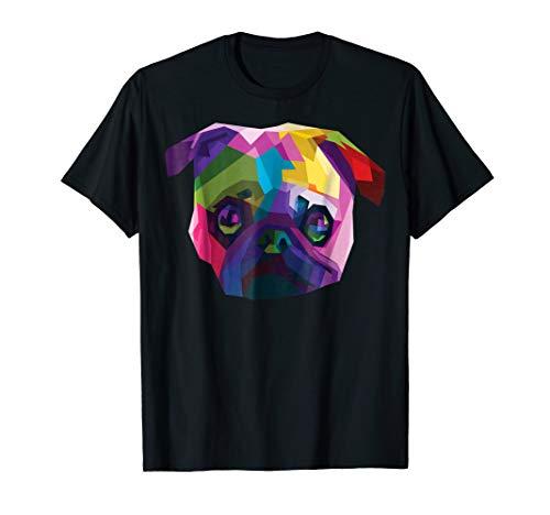 Cute pug Shirt : Colorful Pug Pop Art Style -