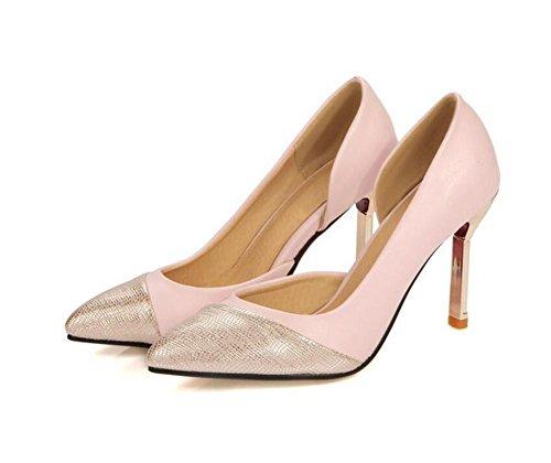 Femmes Charm Pointed à la bouche superficielle travail tribunal chaussures , pink , 38