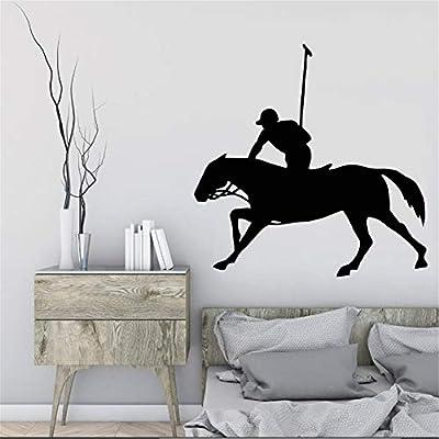 Ajcwhml Caballos ecuestres Caballero Caballo Arte Diseño Pintura de Pared Hombres Creativos Patrón de Equitación Vinilo Etiqueta de La Pared Home Living Room Decoration 35X42 CM: Amazon.es: Hogar