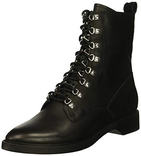 Dolce Vita Women's Gilman Combat Boot, Black Leather, 8 M US ()