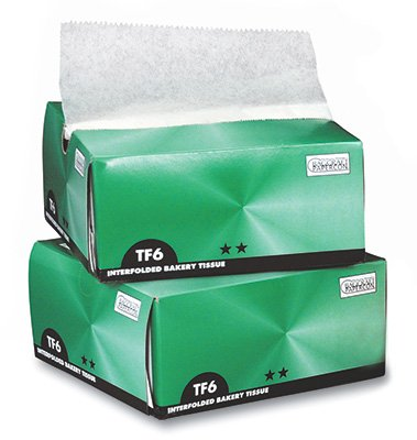 6'' x 10-3/4'' Waxed Bakery Paper Sheets in a Dispenser Box (1000 Tissues) - AB-310-11-03 by Miller Supply Inc (Image #1)