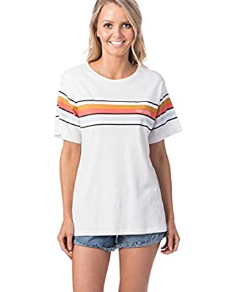 Rip Curl Women's Helicopter TEE, Off White, 2XS