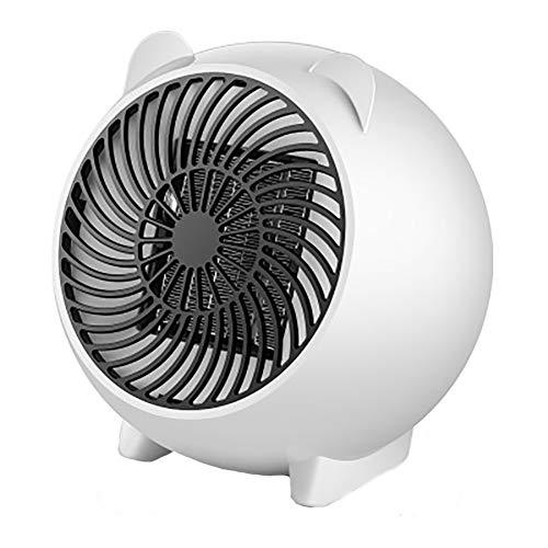 Cheap GYFAA Portable Lightweight Heater Ceramic Mini Electric Heater Cartoon Small Electric Fireplace Adjustable Temperature Desktop-White 16.3cm(6inch) Black Friday & Cyber Monday 2019