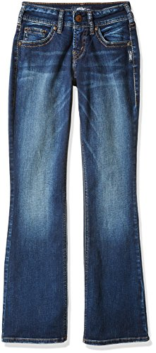 Silver Jeans Women's Co Suki Curvy Fit Mid Rise Bootcut, Dark Vintage Wash, 31X31 by Silver Jeans Co.