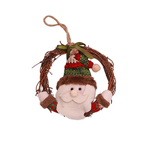 Pendant & Drop Ornaments - 2019 Vine Christmas Tree Doll Xmas Small Santa Snowman Reindeer Toy Hang Decoration Wall Window - Unicorn Cat Toy Room With Toy Plush Rabbit Monkey Reindeer Pendant Stu ()