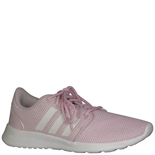 adidas Women's Cloudfoam QT Racer, White/aero Pink, 10 M US