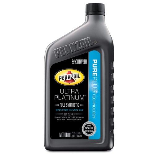 Pennzoil 550038331 3pk ultra platinum 10w 30 full for 5 quart motor oil