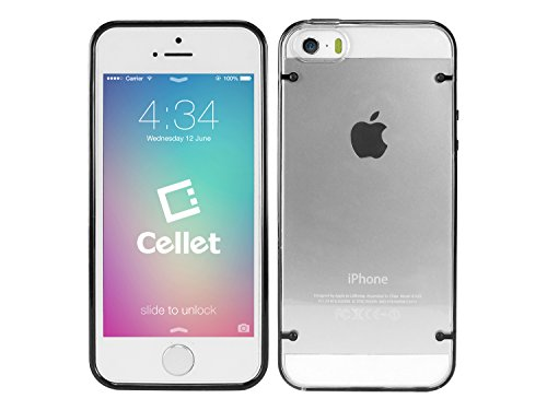 Cellet Slim Fit Hard Cover Case for Apple iPhone 5 / 5S  - Black/Clear