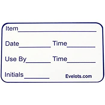 """Evelots 1000 Removable Food Labels, 2.5""""L x 1.5""""W"""