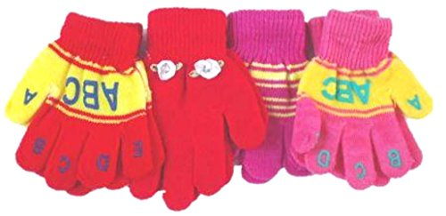 - Set of Four Pairs One Size Magic Stretch Gita Gloves for Infants Ages 1-3 Years
