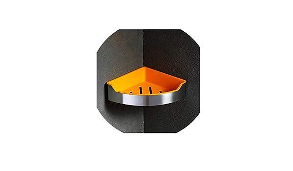 Comfort-Place Bathroom storage rack Estantería esquinera de Acero Inoxidable para baño o Ducha, con estantes de Almacenamiento de Resina para Montar en la Pared: Amazon.es: Hogar