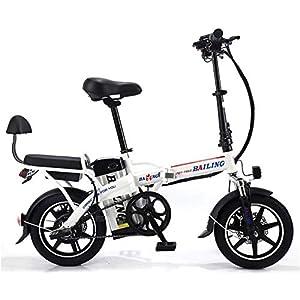 41CgCa9V4CL. SS300 Drohneks Bici elettrica, Bici elettrica Pieghevole 14 Pollici 48V 48 Persone con Batteria al Litio da 16 Ah, velocità…