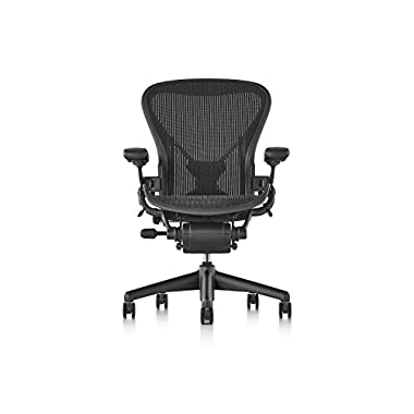 Herman Miller Aeron Chair - Fully Adjustable, B size, Adjustable PostureFit, Carpet Casters
