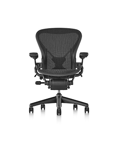 Herman Miller Classic Aeron Chair – Fully Adjustable, C size, Adjustable PostureFit, Carpet Casters