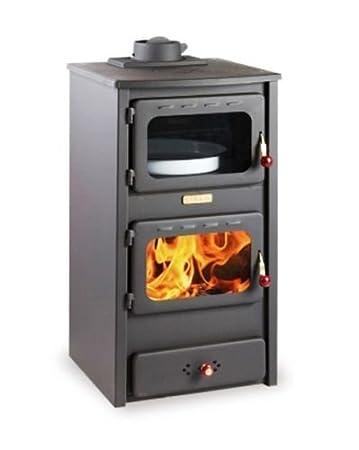 Estufa de leña con horno de hierro fundido: Amazon.es: Bricolaje y ...