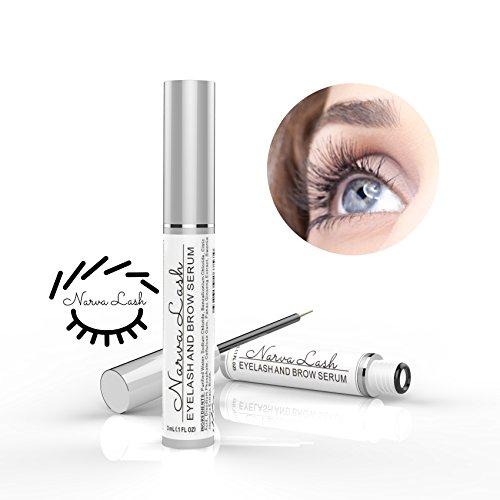 Narva Lash Hypoallergenic Eyelash & Eyebrow Enhancing Growth Serum | Natural Lash Boost | Eyelash & Brow Conditioner for Longer, Fuller & Thicker Lashes & Brow