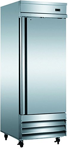 "29"" Upright Stainless Steel Single 1 Door Commercial Freezer, CFD-1FF, 23 Cubic Feet, for Restaurant"