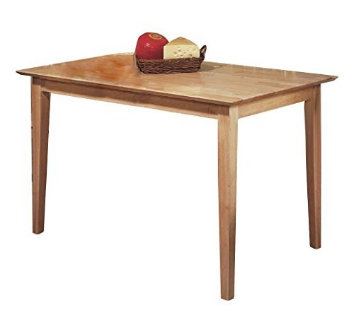 Pilaster Designs - Natural Maple Finish Wood Dining Room Kitchen Rectangular Table
