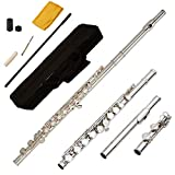 Funion Flute Set C Flute Closed hole With Case Rod Screwdriver Cleaning Cloth Grease Caps Musical Instruments Funion
