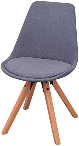 Tidyard Lot de 2 Chaises de Salle à Manger/Chaise de Bureau en Tissu Style Vintage Gris Cair